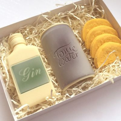 Regalos dia del padre - Set de gin tonic de chocolate