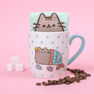 Regalos divertidos - Calcetines Pusheen en la tasa