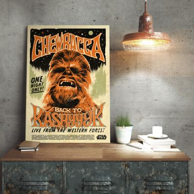 Pósteres - Póster metálico Star Wars - Chewbacca