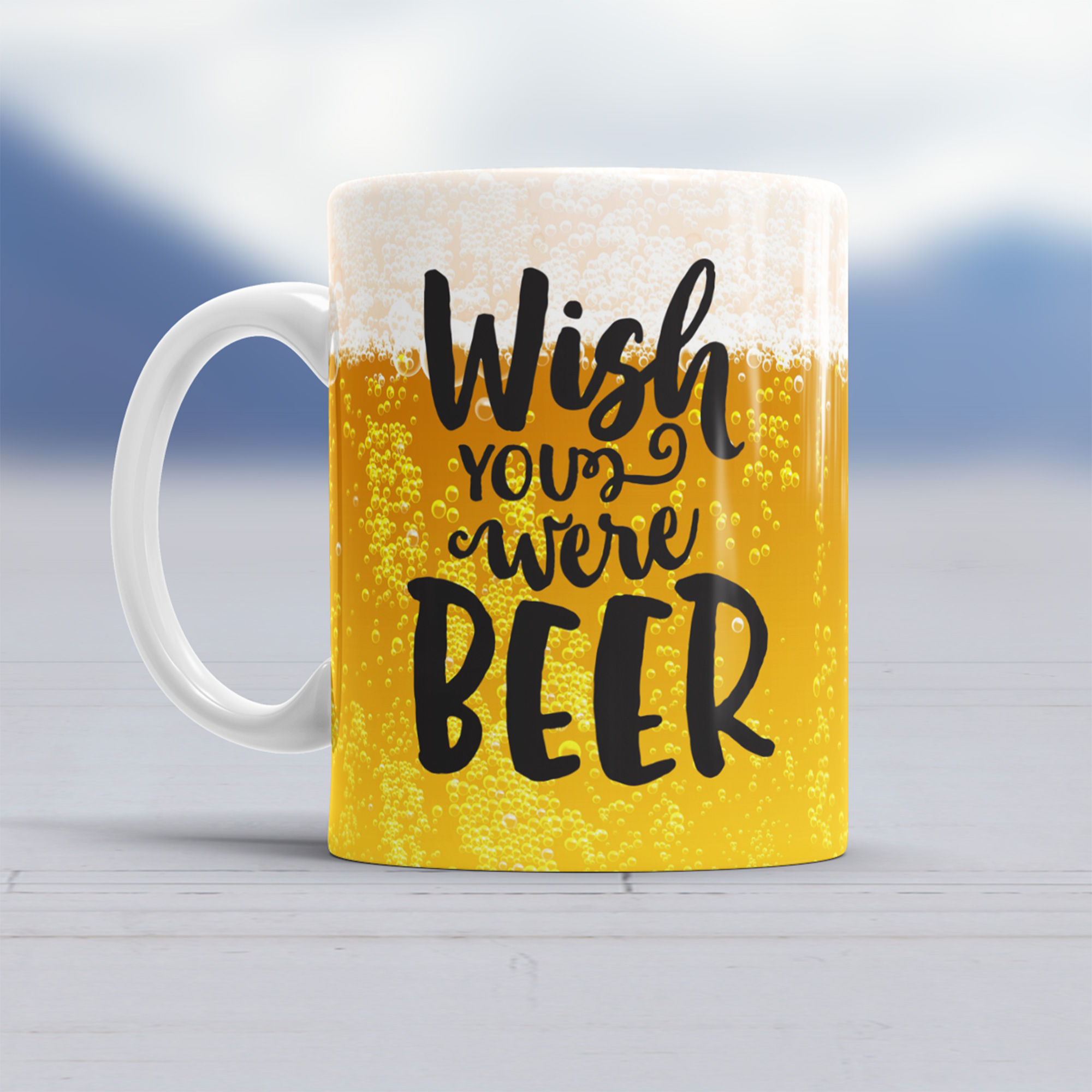Taza Wish You Were Beer